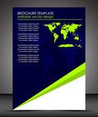 Professionelle business flyer vorlage bzw. unternehmen banner — Stockvektor