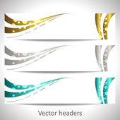 Web headers, set of vector banners — Stock Vector