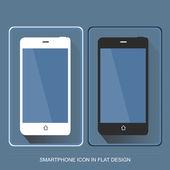 Smartphone los iconos de estilo de diseño plano — Vector de stock