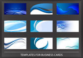 Creative blue corporate business cards — Stock Vector