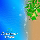 Vector illustration with summer design — Wektor stockowy