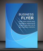 Business flyer template or corporate banner, brochure — Vettoriale Stock