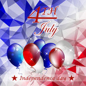 Independence day, vector background — Vector de stock