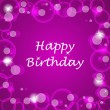 Happy birthday vector illustration with light on the background — Vector de stock
