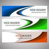 Simple horizontal web banners or headers — 图库矢量图片