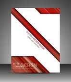 Profesionální obchodní flyer šablony nebo firemní banner, brožura — Stock vektor