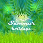 Vector illustration with summer design — Stockvektor