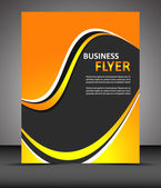 Professional business flyer template or corporate banner, cover design — Stock Vector