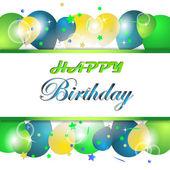 Grattis på födelsedagen vektor illustration, kort — Stockvektor