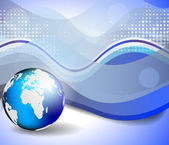 Background with globe, internet concept of global business — Stockvektor