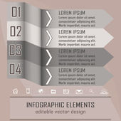 Modern infographic option banner with four steps — Vetor de Stock