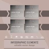 Moderna infographic alternativet banner med fyra steg — Stockvektor