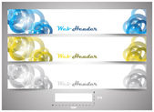 Web headers with precise dimension, set of vector banners — Vecteur