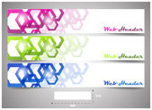 Web headers with precise dimension, set of vector banners — Stock Vector