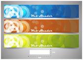Web headers with precise dimension, set of vector banners — 图库矢量图片