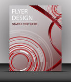 Cover design, business flyer template or corporate banner, folder — Stock Vector