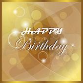 Happy birthday vector illustration, card — Stock Vector