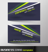 Business card template or visiting card set — Stock Vector