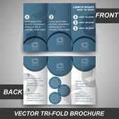 Tri fold corporate business store brochure, cover design, template — Stock Vector