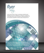 Business flyer template or corporate banner, cover design, brochure — Stock Vector