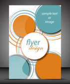 Business A4 booklet cover with circular pattern — Stock vektor