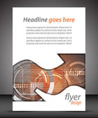 Business A4 booklet cover with technological pattern — Stock vektor