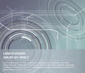 Abstract vector background with circular elements — Stockvektor