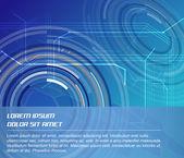 Fondo de vector abstracto con elementos circulares — Vector de stock
