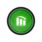 Glossy vector icon, button — Stock Vector
