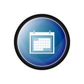 Ícone de vetor de organizador de calendário, botão — Vetor de Stock