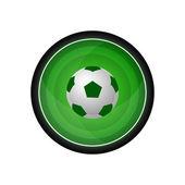 Soccer ball vector icon, button — Stock Vector