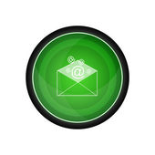 Email correspondence vector icon, button — Stock Vector