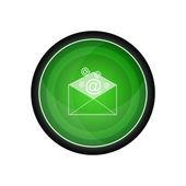 Email correspondence vector icon, button — Stok Vektör