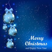 Abstrakt juldesign med ljus och snö — Stockvektor