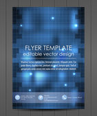 Professional business flyer template or corporate banner — Stock Vector
