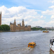 London Duck Tours, Thames River — Stock Photo