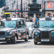 London cabs at Piccadilly Circus. — Stock Photo