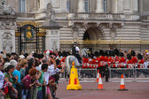 Changing of the Guards ceremony, Buckingham Palace — Stok fotoğraf