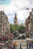 Trafalgar Square and Big Ben, London — Stock Photo