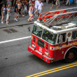 Fire truck in Times Square, New York — Stock Photo