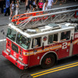 Stock Photo: Fire truck in Times Square, New York