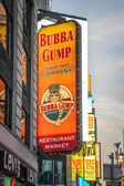 Bubba Gump Restaurant Sign at Times Square, New York — Stock Photo