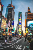 Time Square the evening, New York City — Stock Photo
