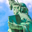 Stock Photo: Close up Statue of Liberty left side.