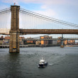 Stock Photo: NYPD boat on Hudson River, New York City