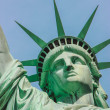 Statue of Liberty face — Stock Photo