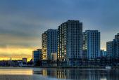 City dawn — Stok fotoğraf