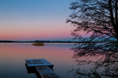 Lake sunset — Foto Stock