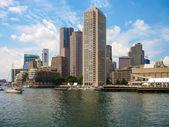 Skyline van de haven van boston — Stockfoto