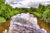 Beautiful reflections in the river — Stock Photo